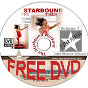 Starbound mini trampoline workout video in a two hour rebounding exercise DVD compilation with all rebounders purchased this month