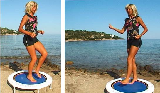 Get rid of cellulite using my mini trampoline rebounding workout cellulite stripper plan from my Starbound book of mini trampoline workouts