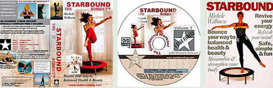 rebounding exercise workouts on dvd and in my book Starbound provide leading lifestyle and fitness plans using quality mini trampolines
