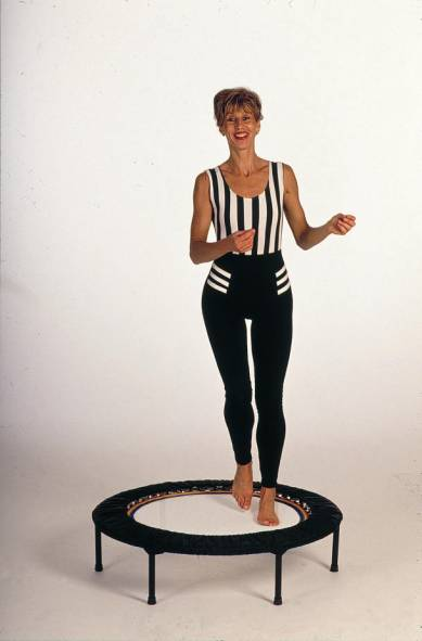 Rebounding exercise workouts on quality rebounders relieve stress imapct from your joints