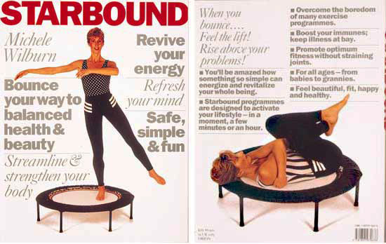 starbound book of mini trampoline rebounding exercise workouts and lifestyle and wellness plans for health fitness and beauty