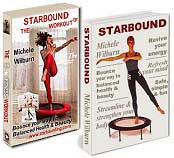 Special offer for a combination package of Starbound mini trampoline exercise DVD and books and fa feww DVD with every quality minitrampoline rebounder