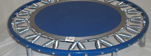 Needak rebounders are available with a blue or black rebounder frame