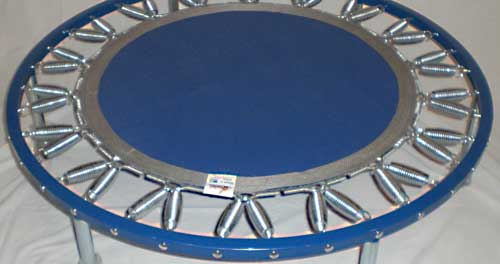 Blue frames are most popular on the  Needak USA rebounders they are safe and lead free.