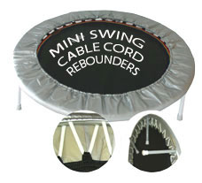 Mini Swing cable cord rebounders ideal for a vareity of rebounder exercise workouts