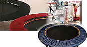 Starbounds mini trampoline exercises in rebounding video and rebouning exercise books provide a perfect solution for varying workouts on your Body Energiser rebounders