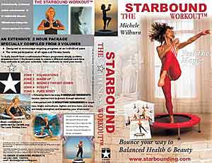 The Starbound Workout ' Five Star Fitness' rebounder exercise workouts provide 3 Modules of mini trampoline workouts - from Beginners to Advanced. The Wiekouts are now also available with 4 DVD rebounding exercise volumes in PAL format for mini trampoline exercises.