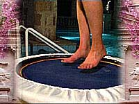Bare feet on the Pro Plus rebounder is ideal when training