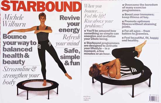 Best selling Starbound mini trampoline book of rebounding exercise holistic fitness lifestyle plans