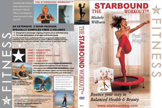 The Starbound Workout videos for minitrampoline workouts in rebounding exercise workout DVD two hour compilation Five Star Fitness