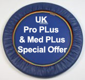 Special Offer for Starbounds quality trimilin Pro Plus and med PLus folding leg rebounders