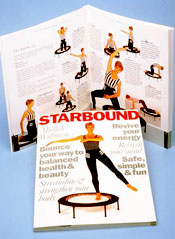 starbound workouts in book and DVDs help you make the nost of your mini trampoline rebounders at home and meet a wide variety of goals