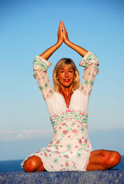 Join Michele Wilburn in the Greek Islands for Energyia holistic fitness holidays including yoga and fitness retreat activities