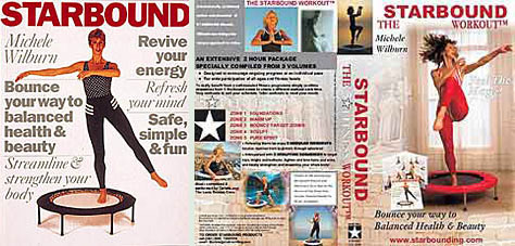 Starbound mini trampoline rebounder exercise DVD and books provide a perfect package to get you rebounding safely and effectively at home.