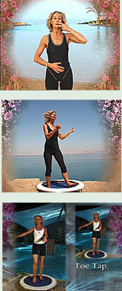 Starbounds  mini trampoline rebounding exercise workouts include a variety of exercise routines in 5 zones for a well balanced workout