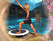 The Starbound Workout mini trampoline rebounder exercise DVD  is filmed on the shores of the Dead Sea, bringing a beautifu;l ambience into your home exercise rebounding workouts