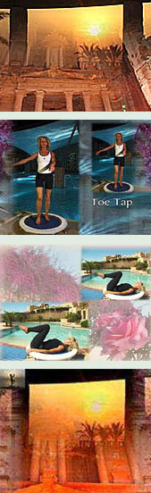 The Starbound Workout rebounding exercise mini trampoline DVD volumes are filmed at the glorious Movenpick Resor and Sanctury Zara Spa in Jordan - a lovely ambience for your rebounding workouts at home.