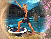 Essential stretches can be performed at any time during your rebounding exercise workout as long as you have warmed up thoroughly using the mini trampoline