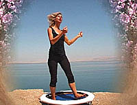 Starbound DVD and video rebounding exercise workouts provide choreographed rebounder exercises