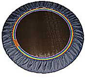 The RH36 lymphaciser rebounder is available with the rainbow webbing as a surcharge