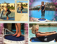 Rebounding exercise mini trampoline workouts for total fitness training, health and beauty!