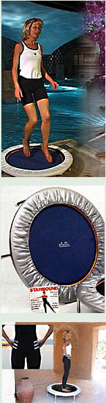 Rebounding exercise workouts performed on mini trampoline rebounders should always be approached with caution. It is better to perform rebounding exercise a few minutes a few times daily on your rebounder to begin