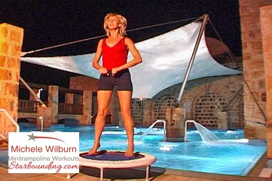 Mini trampoline rebounding exercise helps you become streamlined, trim, lean and strong, fighting jelly belly