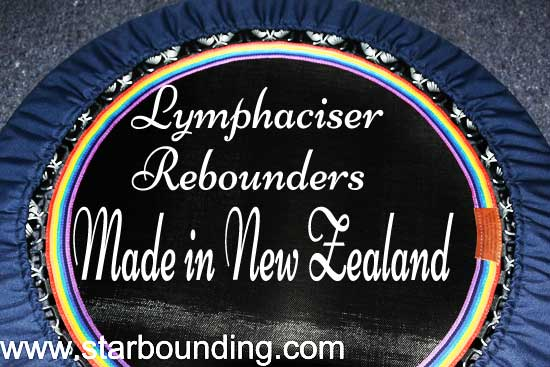 ORIGINAL RAINBOW LYMPHACISER REBOUNDERS MANUFACTURED IN NZ WITH STARBOUND BOOKS AND VIDEO - delivered daily to Australia