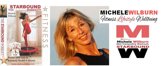 Michele Wilburn author producer OF sTARBOUND VIDEOS AND dvd and transformation coach. Starbound provides the worlds best mini trampoline rebounding exercise workouts books and videos